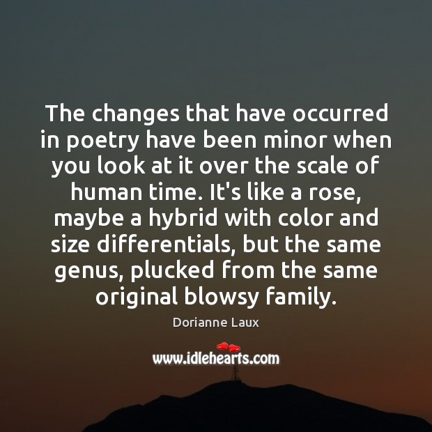 The changes that have occurred in poetry have been minor when you Image