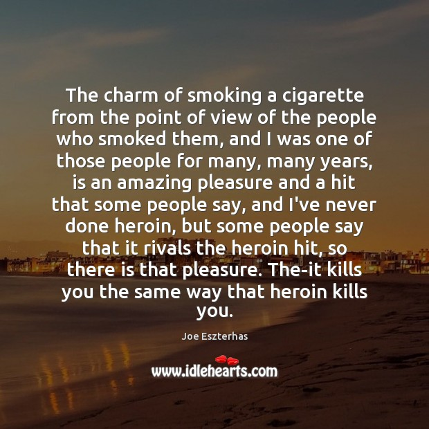 The charm of smoking a cigarette from the point of view of Image