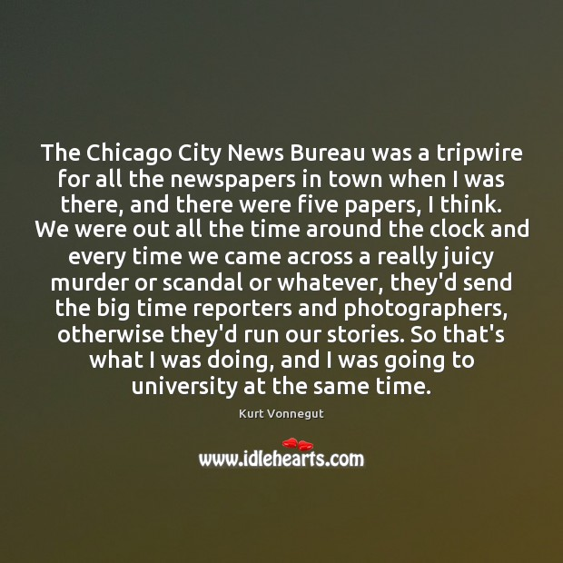 The Chicago City News Bureau was a tripwire for all the newspapers Image