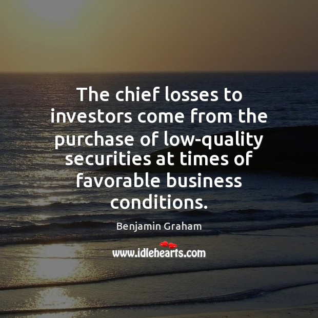 Image, The chief losses to investors come from the purchase of low-quality securities
