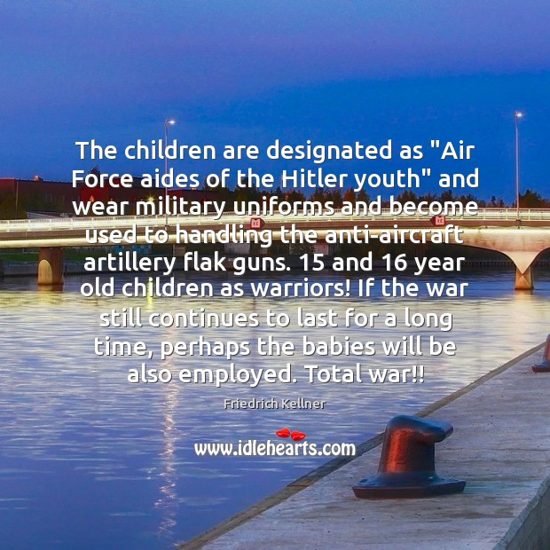 "Image, The children are designated as ""Air Force aides of the Hitler youth"""