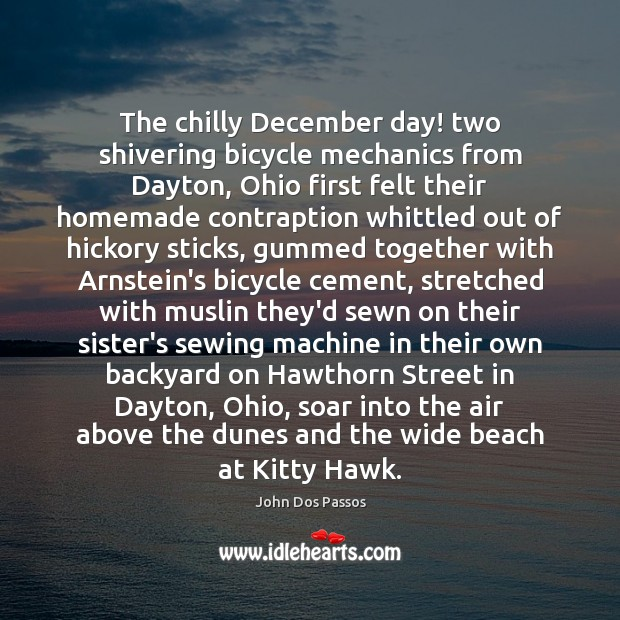 Image, The chilly December day! two shivering bicycle mechanics from Dayton, Ohio first