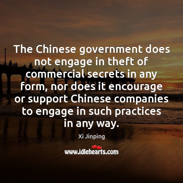 Image, The Chinese government does not engage in theft of commercial secrets in