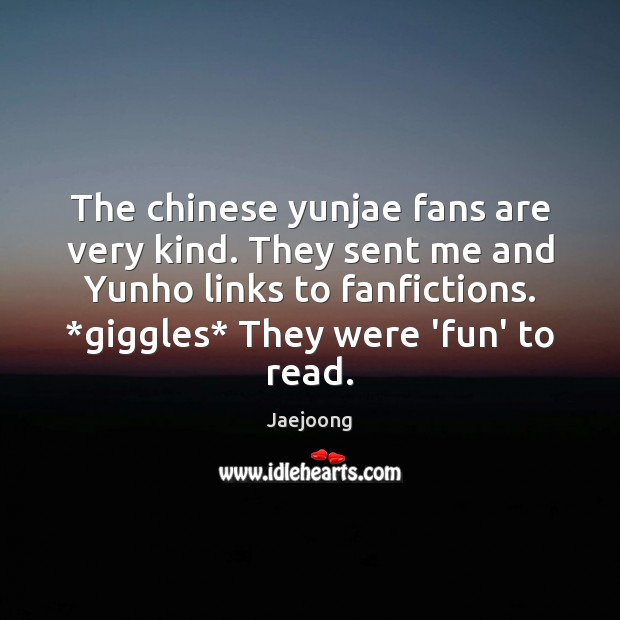 The chinese yunjae fans are very kind. They sent me and Yunho Image