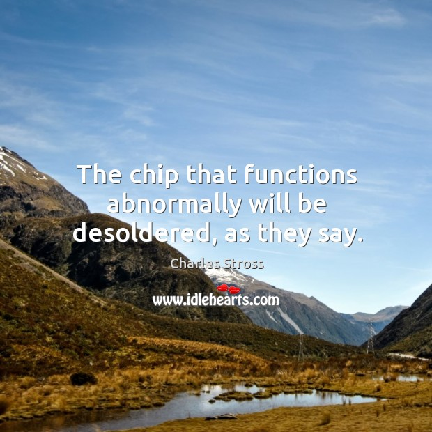 The chip that functions abnormally will be desoldered, as they say. Image