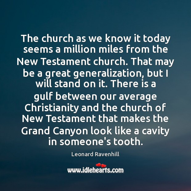 The church as we know it today seems a million miles from Image