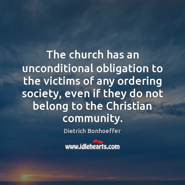 The church has an unconditional obligation to the victims of any ordering Image