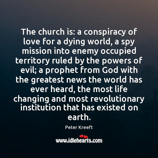 The church is: a conspiracy of love for a dying world, a Image