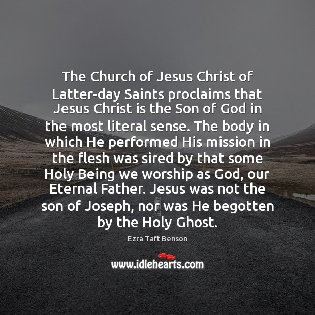 Image, The Church of Jesus Christ of Latter-day Saints proclaims that Jesus Christ