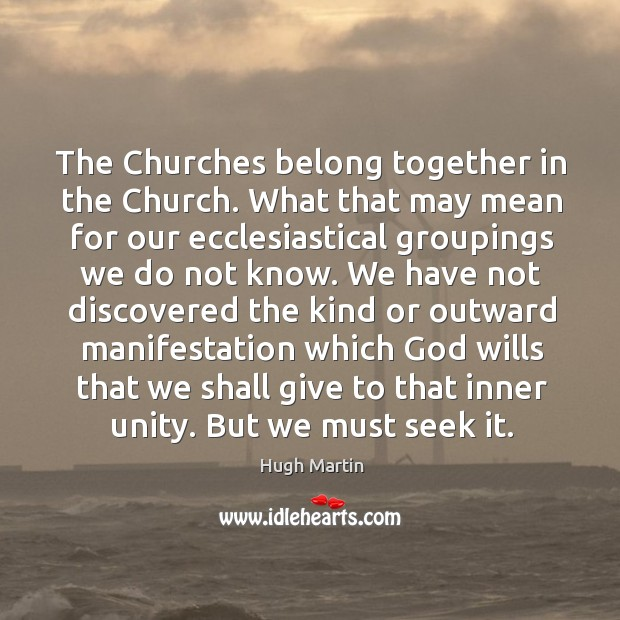 The Churches belong together in the Church. What that may mean for Image