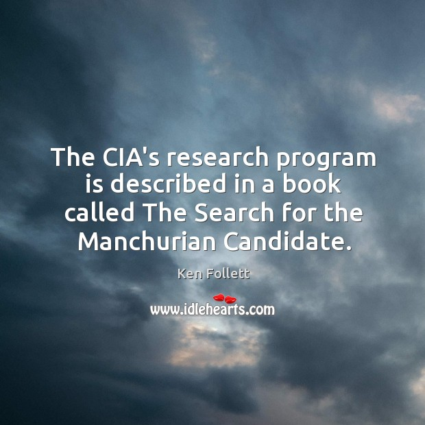The CIA's research program is described in a book called The Search Image