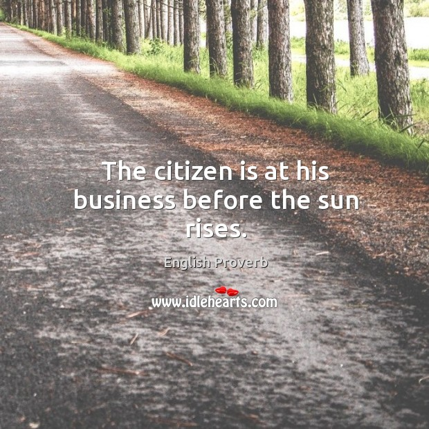 Image, The citizen is at his business before the sun rises.
