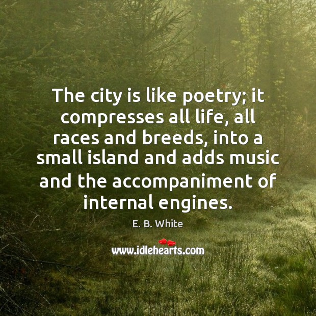 Image, The city is like poetry; it compresses all life, all races and