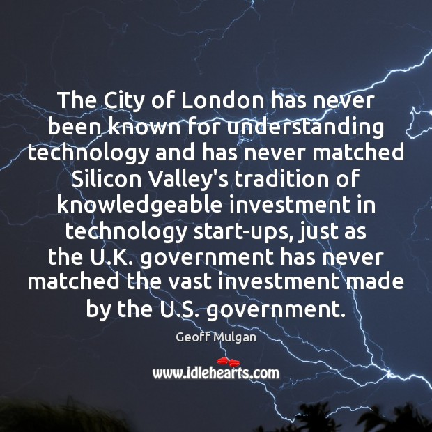 The City of London has never been known for understanding technology and Image