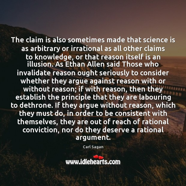 Image, The claim is also sometimes made that science is as arbitrary or