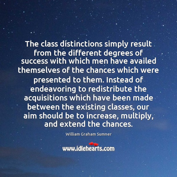 The class distinctions simply result from the different degrees of success with Image