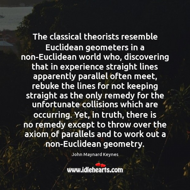 Image, The classical theorists resemble Euclidean geometers in a non-Euclidean world who, discovering