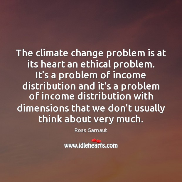 Image, The climate change problem is at its heart an ethical problem. It's