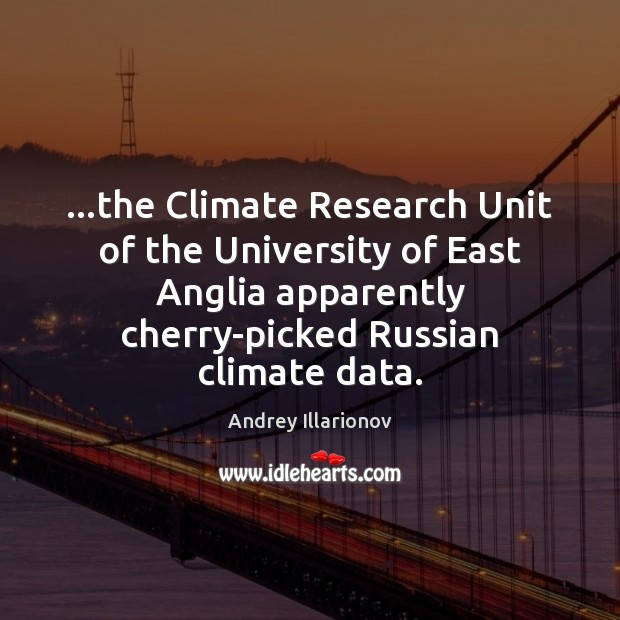 Image, …the Climate Research Unit of the University of East Anglia apparently cherry-picked