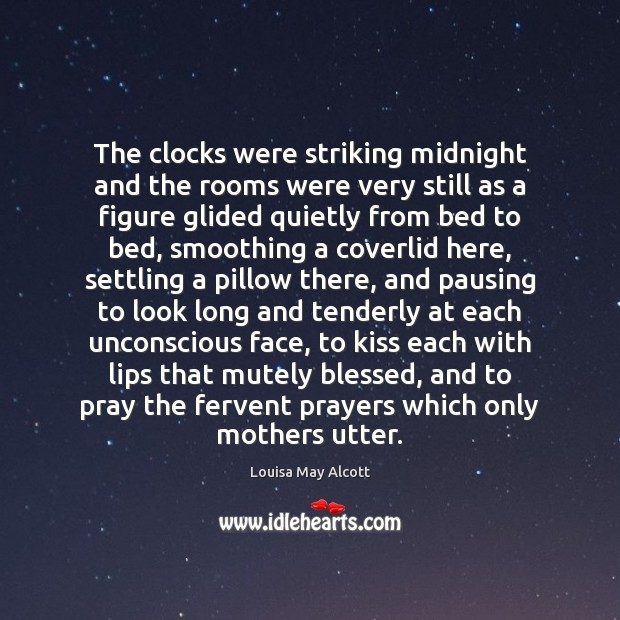 The clocks were striking midnight and the rooms were very still as Image