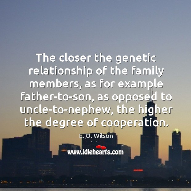 Image, The closer the genetic relationship of the family members, as for example
