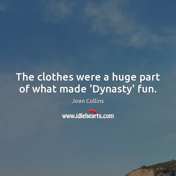 The clothes were a huge part of what made 'Dynasty' fun. Image
