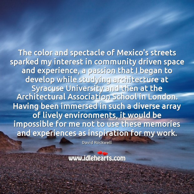 The color and spectacle of Mexico's streets sparked my interest in community Image