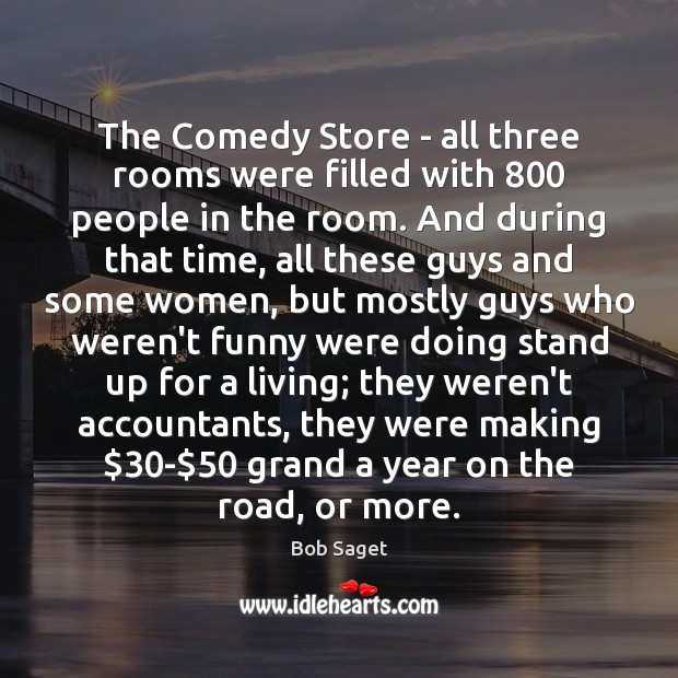 The Comedy Store – all three rooms were filled with 800 people in Image