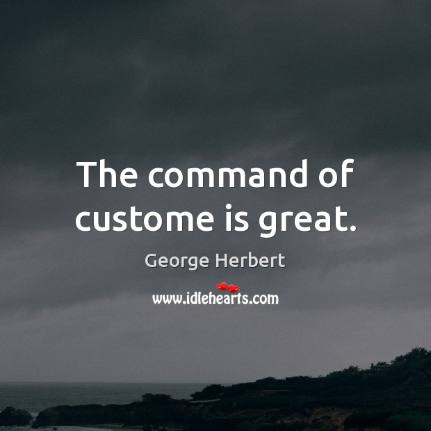 The command of custome is great. Image