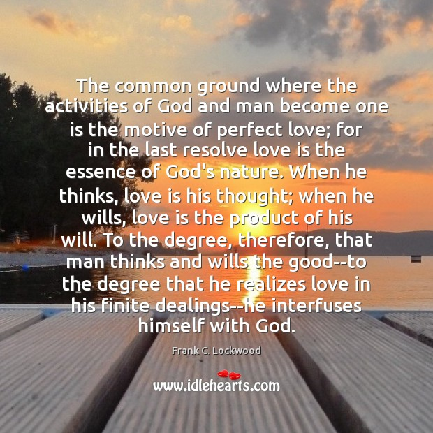 Image, The common ground where the activities of God and man become one