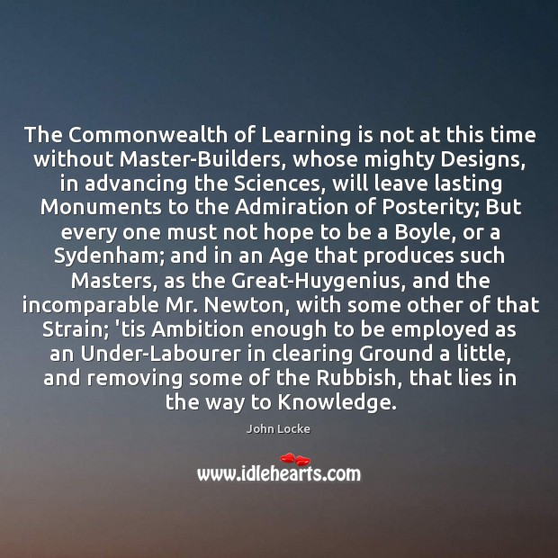 Image, The Commonwealth of Learning is not at this time without Master-Builders, whose