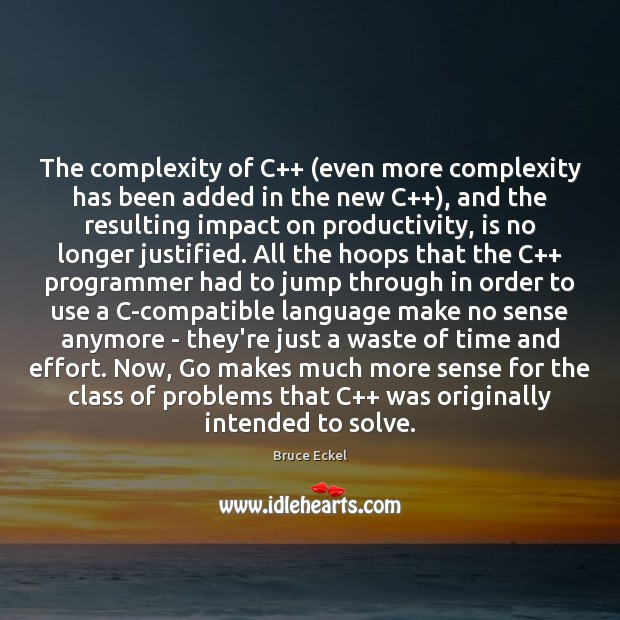 Image, The complexity of C++ (even more complexity has been added in the