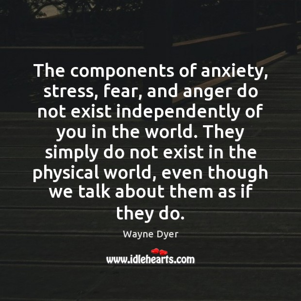 Image, The components of anxiety, stress, fear, and anger do not exist independently