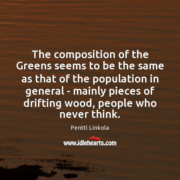 The composition of the Greens seems to be the same as that Image