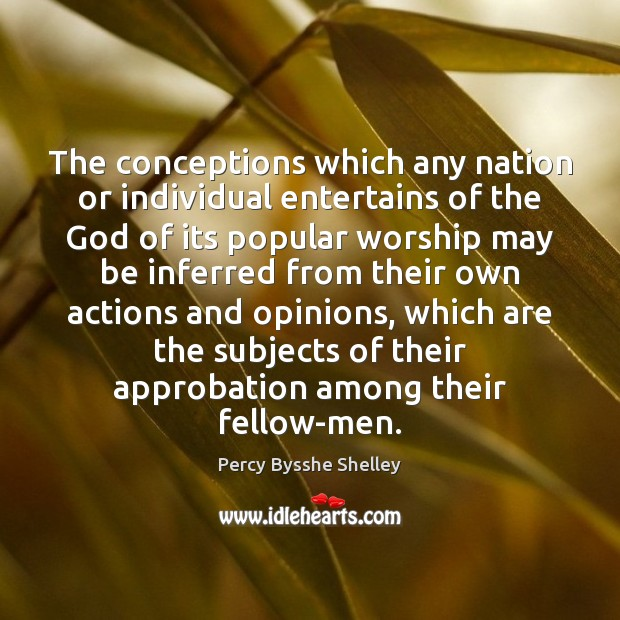 The conceptions which any nation or individual entertains of the God of Image