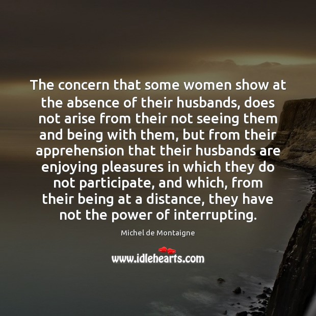 Image, The concern that some women show at the absence of their husbands,