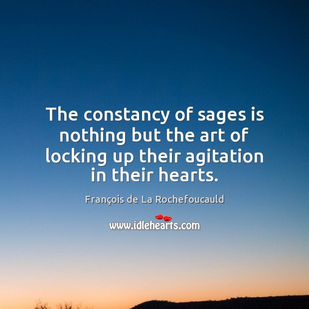 Image about The constancy of sages is nothing but the art of locking up