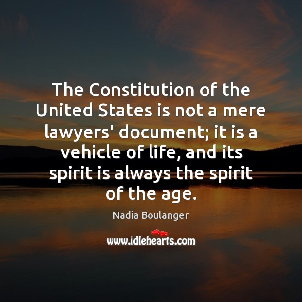 The Constitution of the United States is not a mere lawyers' document; Image