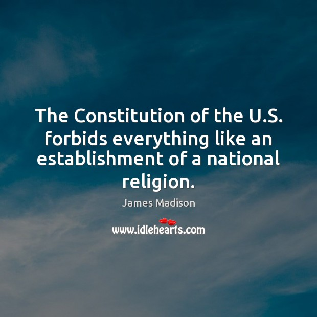 The Constitution of the U.S. forbids everything like an establishment of Image