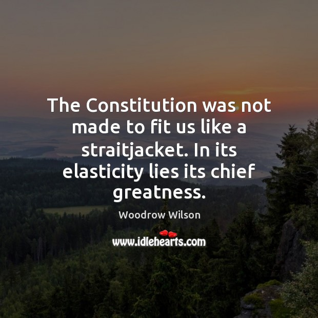 Image, The Constitution was not made to fit us like a straitjacket. In
