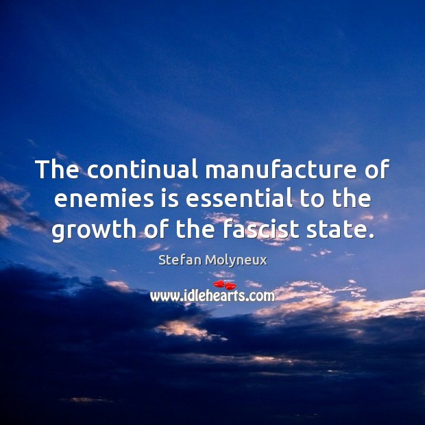 The continual manufacture of enemies is essential to the growth of the fascist state. Image