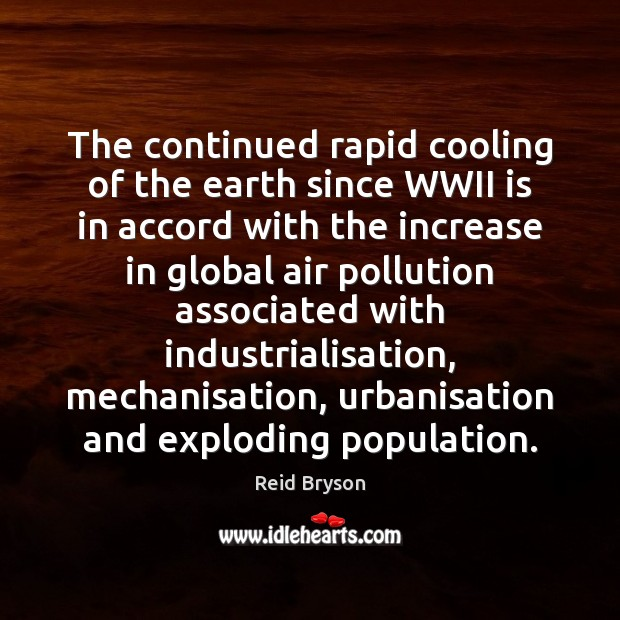 Image, The continued rapid cooling of the earth since WWII is in accord
