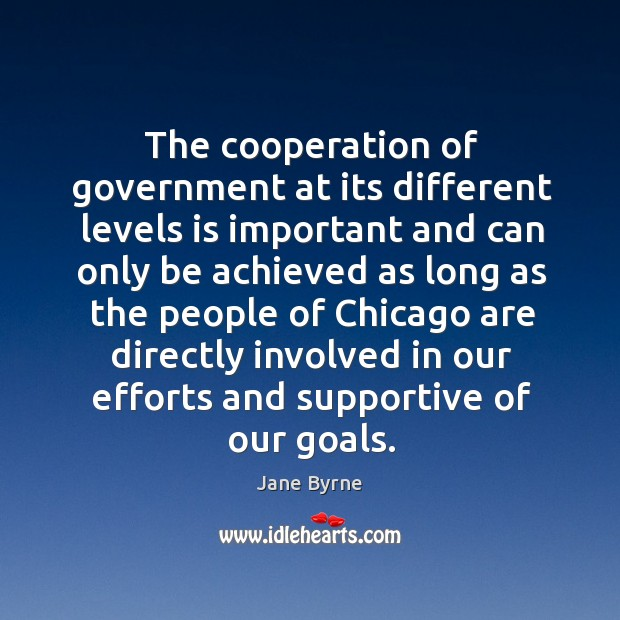 The cooperation of government at its different levels is important and can only Image