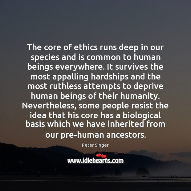 The core of ethics runs deep in our species and is common Image