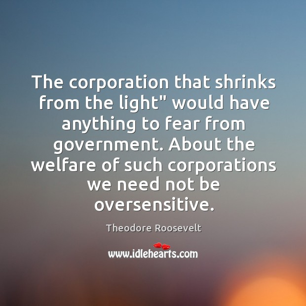 "Image, The corporation that shrinks from the light"" would have anything to fear"