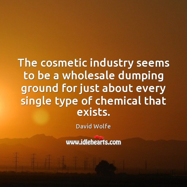 The cosmetic industry seems to be a wholesale dumping ground for just David Wolfe Picture Quote