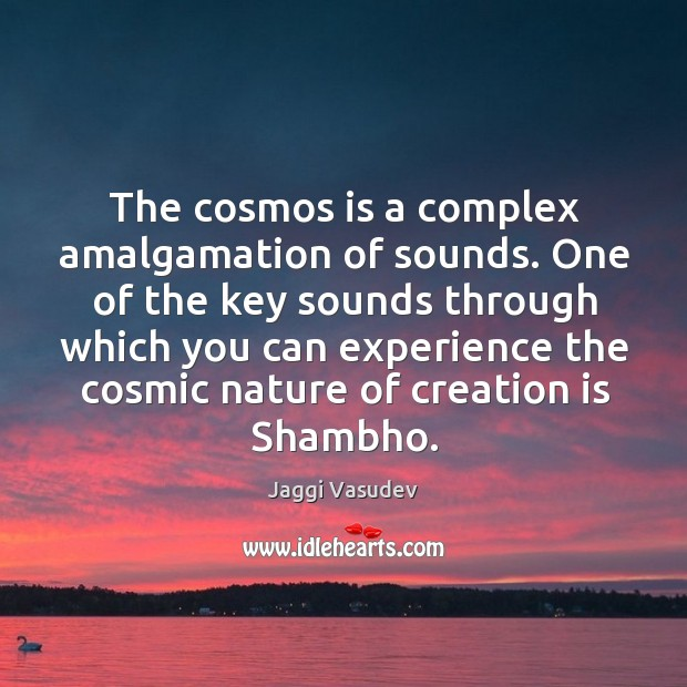 Image, The cosmos is a complex amalgamation of sounds. One of the key