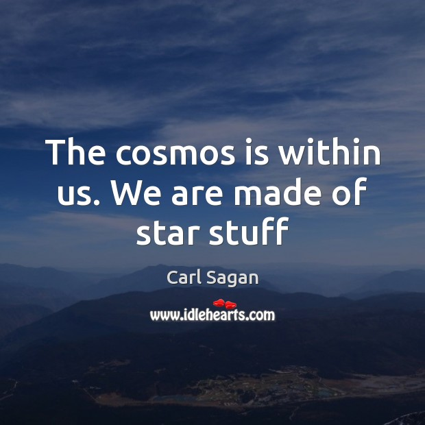 Image, The cosmos is within us. We are made of star stuff
