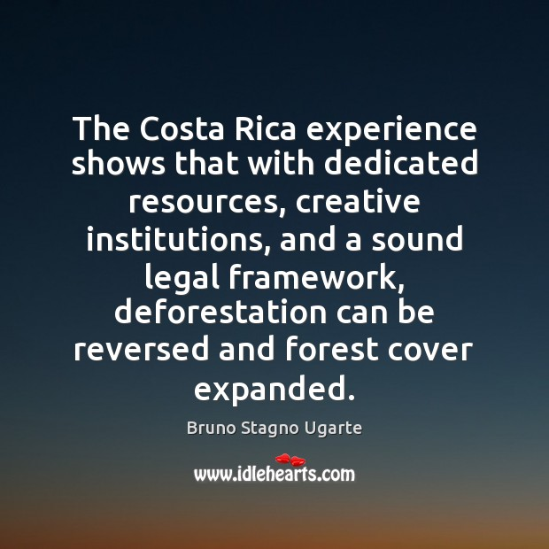 Image, The Costa Rica experience shows that with dedicated resources, creative institutions, and