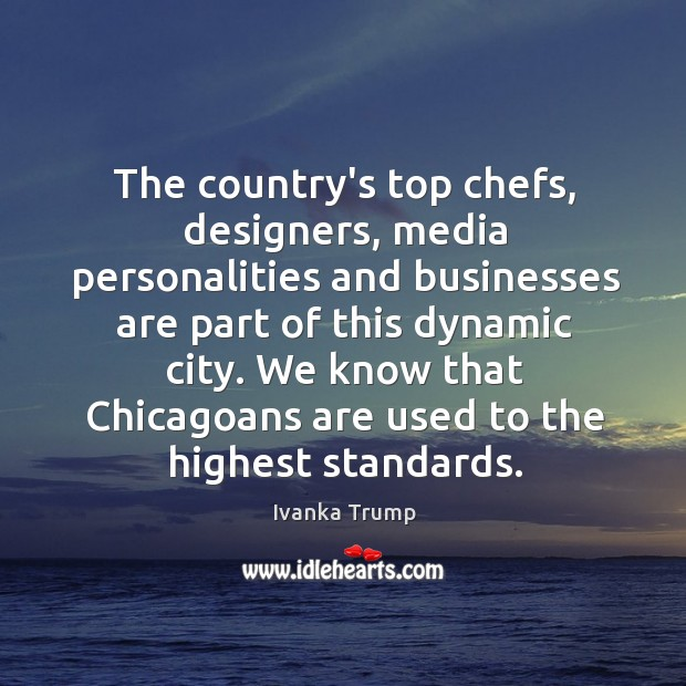The country's top chefs, designers, media personalities and businesses are part of Image
